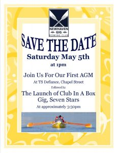 SAVE THE DATE: 5th May: First AGM and Gig Launch