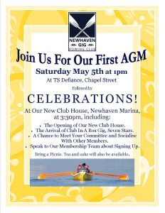 Join us for our first AGM and Celebrations at the Club House